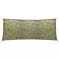 vidaXL Plasă de camuflaj cu sac de depozitare, 1,5 x 4 m