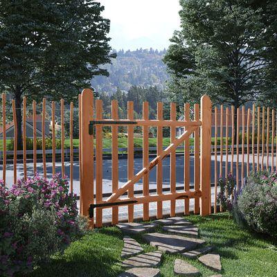 vidaXL Poarta de gard simplă, lemn de alun tratat, 100 x 100 cm