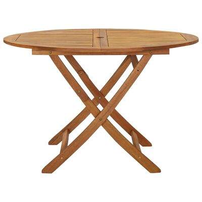 vidaXL Set mobilier grădină, pliabil, 5 piese, lemn masiv acacia