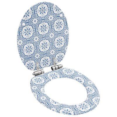 vidaXL Capace WC cu închidere silențioasă 2 buc. MDF design porțelan