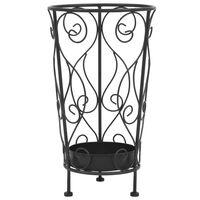 vidaXL Suport pentru umbrelă, stil vintage, metal, 26x46 cm, negru