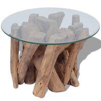 vidaXL Măsuță de cafea din lemn de tec solid, 60 cm