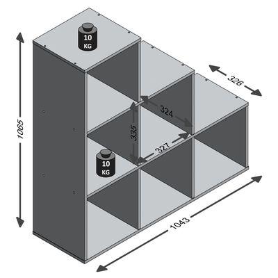 FMD Paravan de cameră cu 6 compartimente, alb