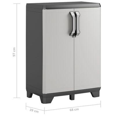 Keter Dulap de depozitare mic Gear, negru și gri, 97 cm