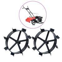 vidaXL Roți metalice pentru motocultor pe benzină de 6,5 CP, 2 buc.