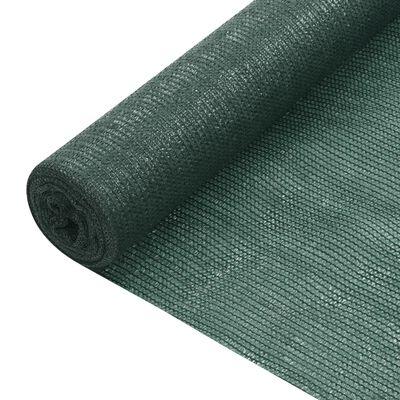 vidaXL Plasă protecție intimitate, 1,2x50 m, verde, 75 g/m², HDPE