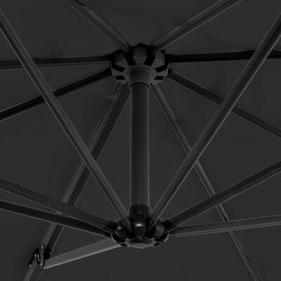 vidaXL Umbrelă de exterior cu bază portabilă, antracit
