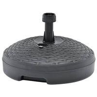 vidaXL Suport umbrelă, antracit, 20 L, plastic, umplere cu nisip/apă