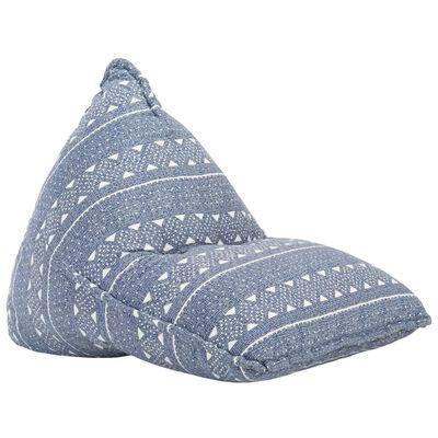 vidaXL Canapea tip sac, indigo, material textil, petice