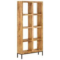 vidaXL Raft de cărți, 80 x 25 x 175 cm, lemn masiv de mango