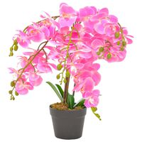 vidaXL Plantă artificială orhidee cu ghiveci, roz, 60 cm