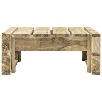 vidaXL Otoman din paleți de grădină, lemn de pin verde tratat