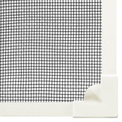 vidaXL Plasă insecte magnetică de ferestre alb 100x120 cm fibra sticlă