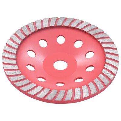 vidaXL Disc de polizare diamantat tip cupă, cu turbo, 180 mm