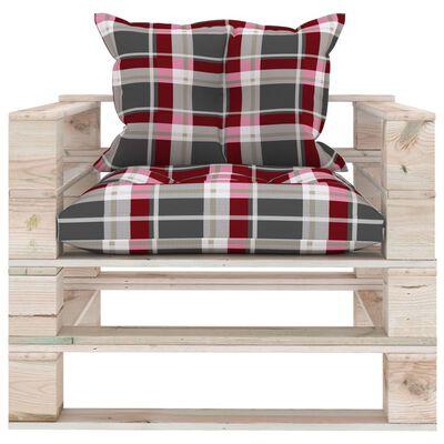 vidaXL Set mobilier grădină din paleți cu perne, 5 piese, lemn de pin