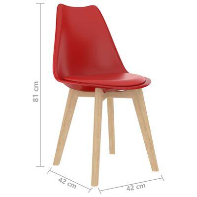 vidaXL Set de masă, 3 piese, roșu