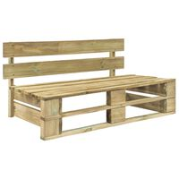 vidaXL Bancă de grădină din paleți, lemn