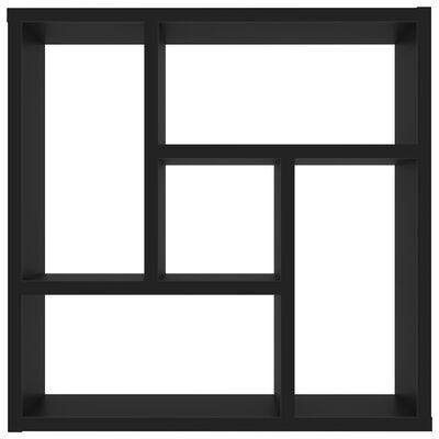 vidaXL Raft de perete, negru, 45,1 x 16 x 45,1 cm, PAL