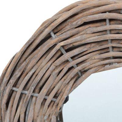 vidaXL Oglinzi, 3 buc., 15 cm, răchită