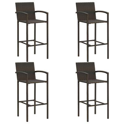 vidaXL Set mobilier bar de grădină, 5 piese, maro