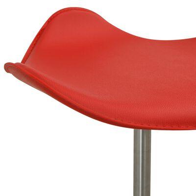 vidaXL Scaun pentru salon spa, roșu, piele ecologică