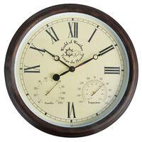 Esschert Design Ceas de gară cu termo-higrometru 30,5 cm TF009