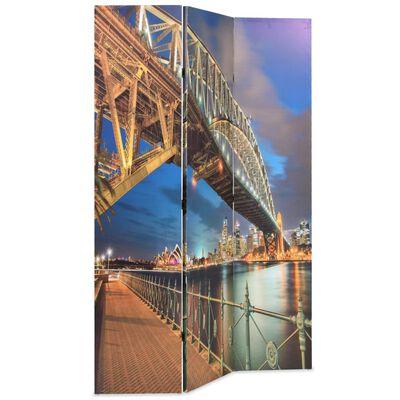 vidaXL Paravan cameră pliabil, 120 x 170 cm, Sydney Harbour Bridge