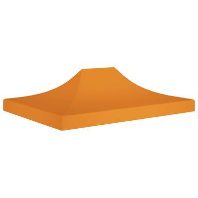 vidaXL Acoperiș pentru cort de petrecere, portocaliu, 4,5x3 m 270 g/m²