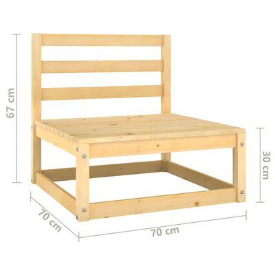 vidaXL Set mobilier de grădină, 9 piese, lemn masiv de pin