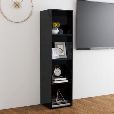 vidaXL Comodă TV, negru extralucios, 142,5x35x36,5 cm, PAL