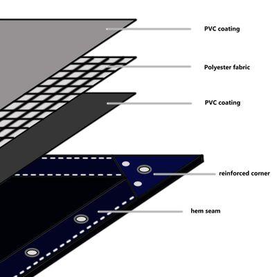 vidaXL Prelată 650 g/m² 3 x 6 m Gri