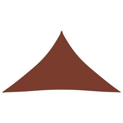 vidaXL Parasolar, cărămiziu, 4x4x5,8 m, țesătură oxford, triunghiular