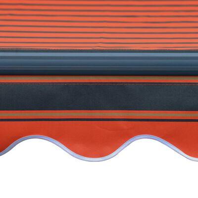vidaXL Copertină retractabilă senzor vânt LED oranj maro 400x300 cm