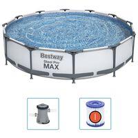 Bestway Set de piscină Steel Pro MAX, 366 x 76 cm