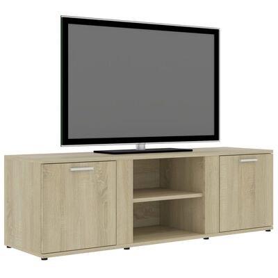vidaXL Comodă TV, stejar Sonoma, 120 x 34 x 37 cm, PAL