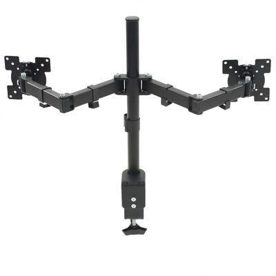 """vidaXL Suport monitor 32"""", cu două brațe, înălțime reglabilă"""