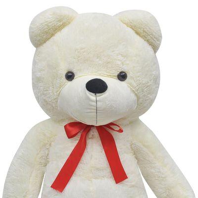 vidaXL Ursuleț de pluș moale de jucărie XXL, alb, 160 cm