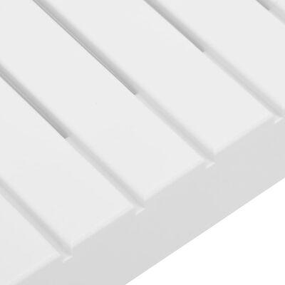 vidaXL Masă de grădină, alb, plastic
