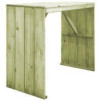 vidaXL Masă de bar, 130 x 60 x 110 cm, lemn de pin tratat