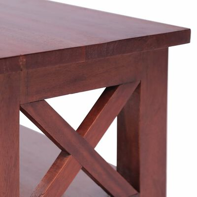 vidaXL Comodă TV, maro, 120 x 30 x 40 cm, lemn masiv de mahon