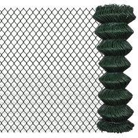 vidaXL Gard de legătură din plasă, 1,25 x 25 m, oțel
