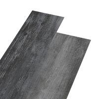 vidaXL Plăci de pardoseală autoadezive, gri lucios, 5,02 m², PVC, 2 mm