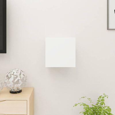 vidaXL Dulap TV montaj pe perete, alb, 30,5x30x30 cm