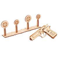 Wood Trick Kit machetă de tir cu pistol, lemn