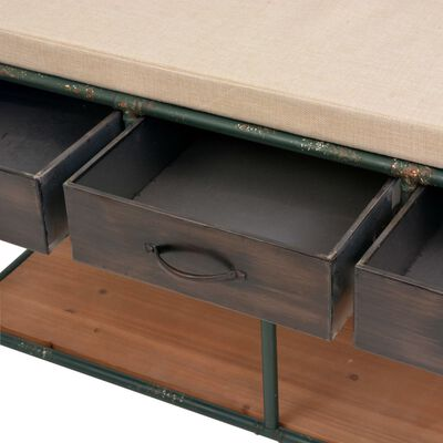 vidaXL Bancă de depozitare cu pernă 107,5x34,5x59 cm