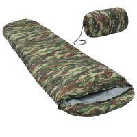 vidaXL Sac de dormit ușor, camuflaj, 15° C, 850 g
