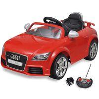 Mașină Audi TT RS pentru copii cu telecomandă, roșu