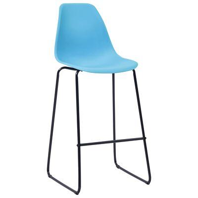 vidaXL Set mobilier de bar, 3 piese, albastru, plastic