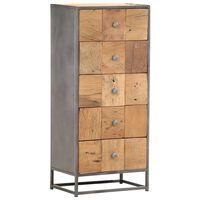 vidaXL Dulap cu sertare, 45 x 30 x 100 cm, lemn masiv reciclat