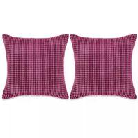 vidaXL Set perne decorative 2 buc. Velur 45 x 45 cm Roz